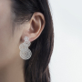Earring model 1_overlap fortune drum silver