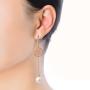 earring model3_rose gold white pearl