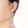 earring model3_gold white pearl