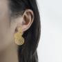 Earring model 1_overlap fortune drum gold